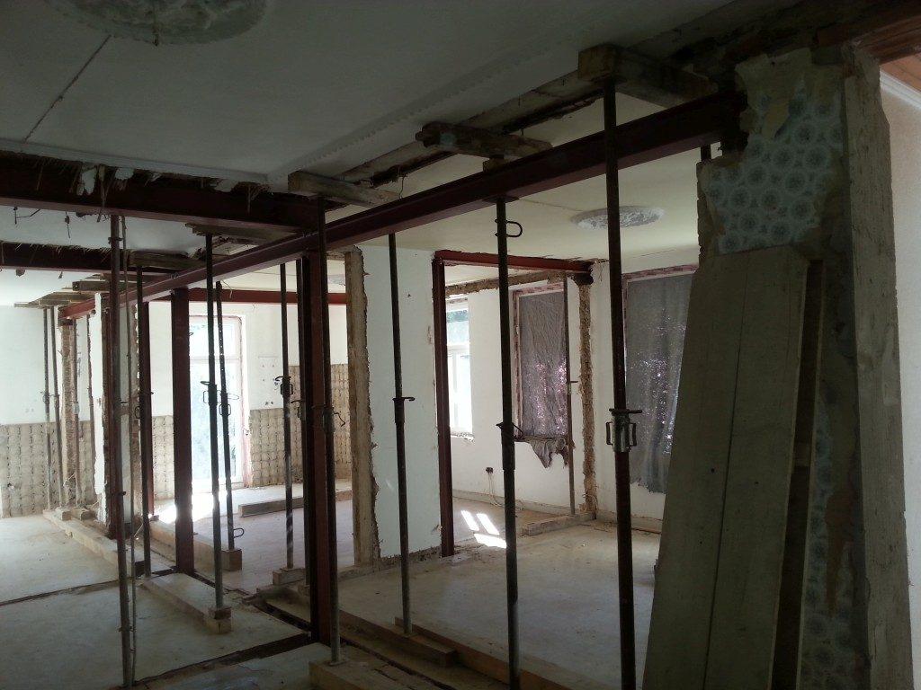 Gerüst für den Innenbereichen einer Wohnung