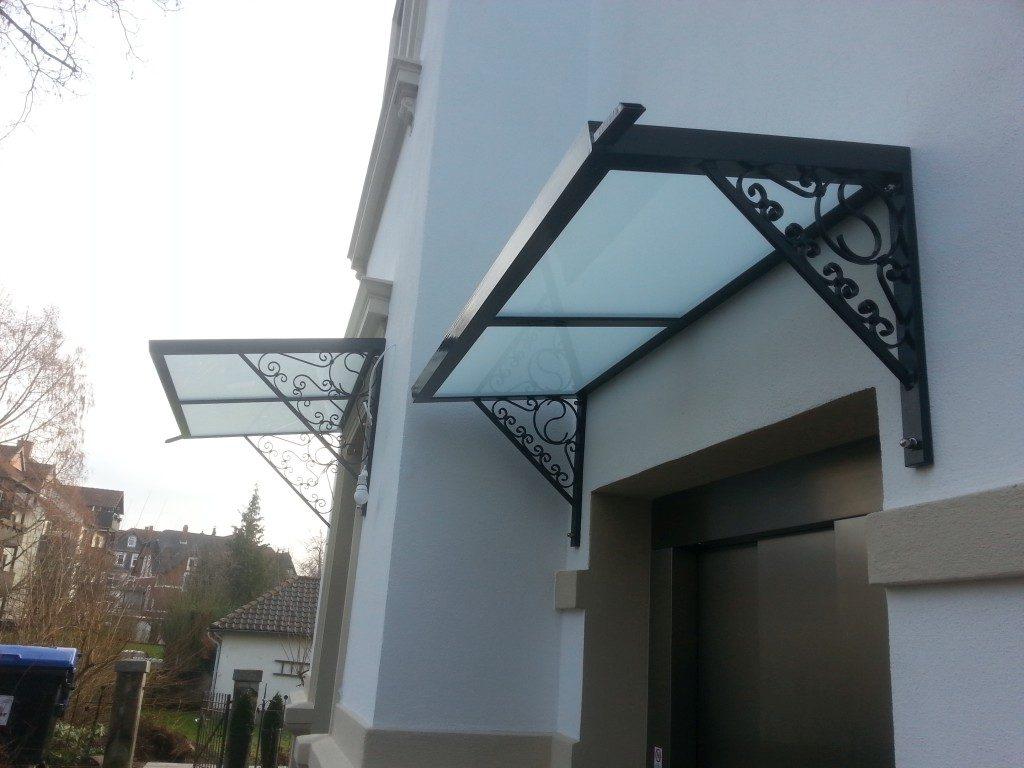 Überdachung von Metall und Glas für Wohnung