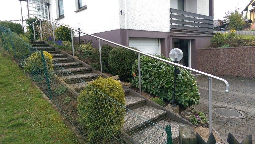 Geländer für Treppe im Außenbereich Metall