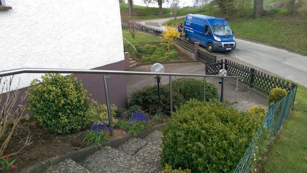 Geländer für den Eingang bis Haustür