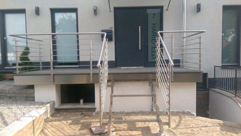 Einbau von Treppenstufen