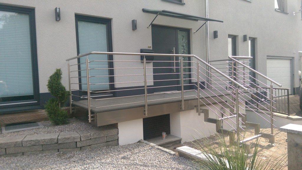 Geländer für Terrasse und Treppe aus Metall