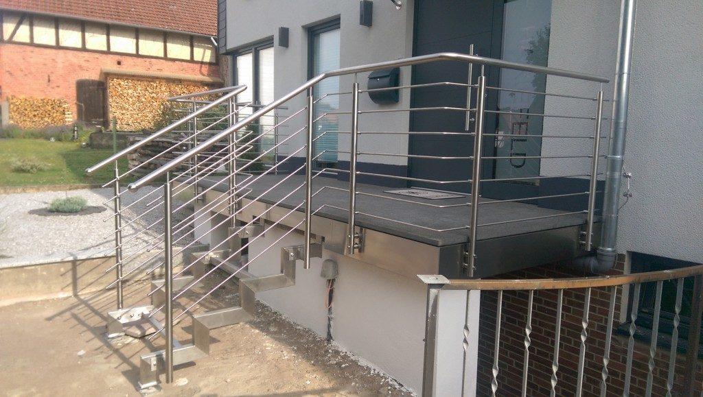 Geländer für Treppe und Terrasse aus Metall