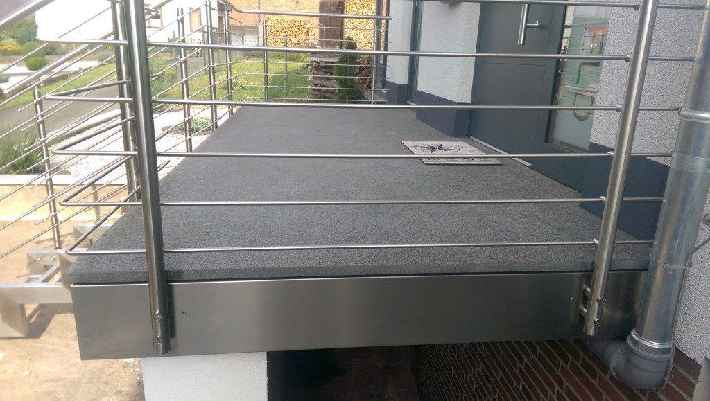 Geländer für die Terasse aus Metall