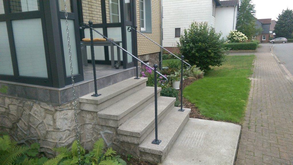 Geländer für den Eingang Metall