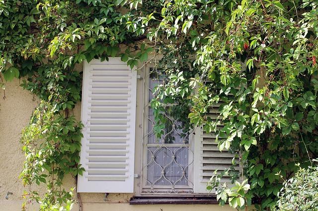 Fensterläden und Fenstergitter mt Muster